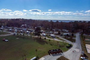 Aerial View of rv sites